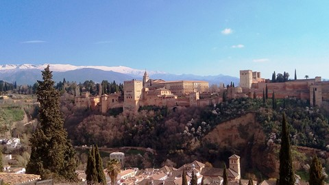 alhambra palace granada spain self guided walking trails
